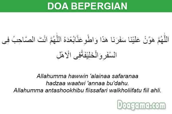 doa bepergian
