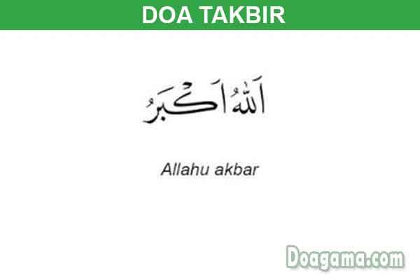 bacaan doa kalimat takbir