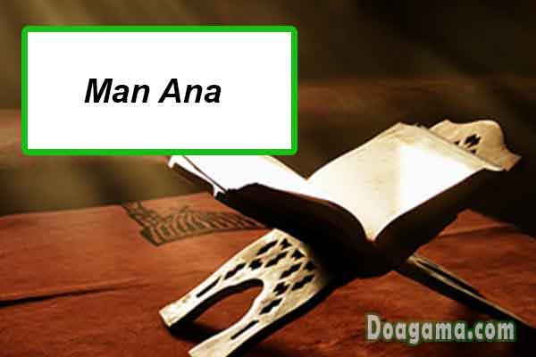 tulisan arab man ana
