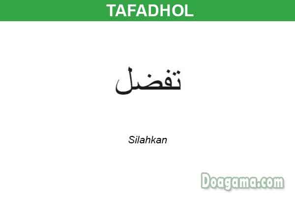 tulisan arab tafadhol