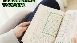 tulisan bahasa arab tafadhol